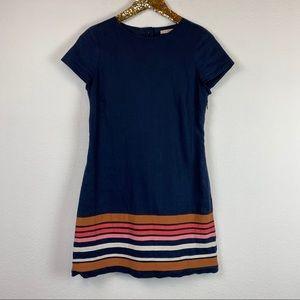 Boden • Striped Hem Linen Shift Dress